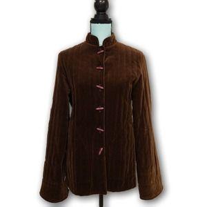 The Fashion Place Vintage Taffeta Jacket Brown 12